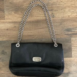 Michael Kors leather bag with silver chain
